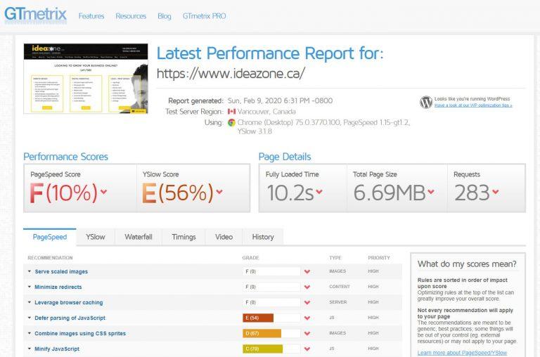 Poor website performance