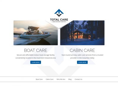 Total Care Ltd website home page