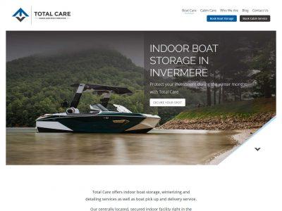 Total Care Ltd website boat care page